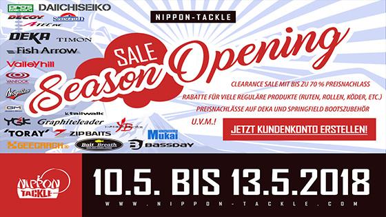 Season Opening SALE bei Nippon-Tackle